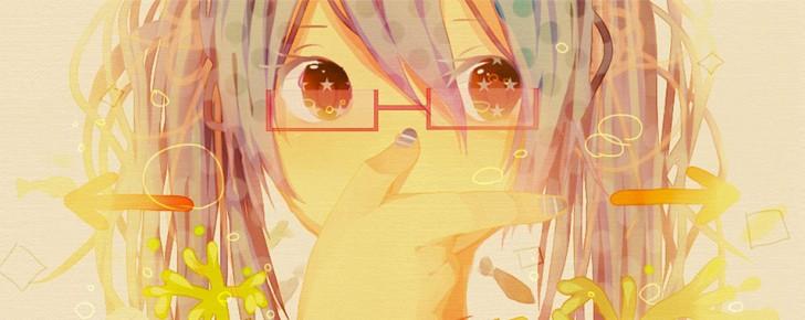 【初音ミク】メガネっ娘なミクのかわいい壁紙画像【ボカロ】