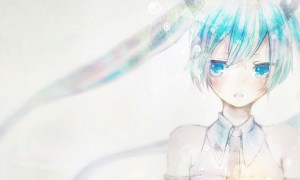 【初音ミク】透明水彩絵具風の綺麗なイラスト壁紙【ボカロ画像】