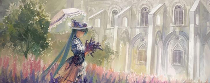 【初音ミク】芸術的で美しい絵画風イラスト壁紙【ボカロ画像】