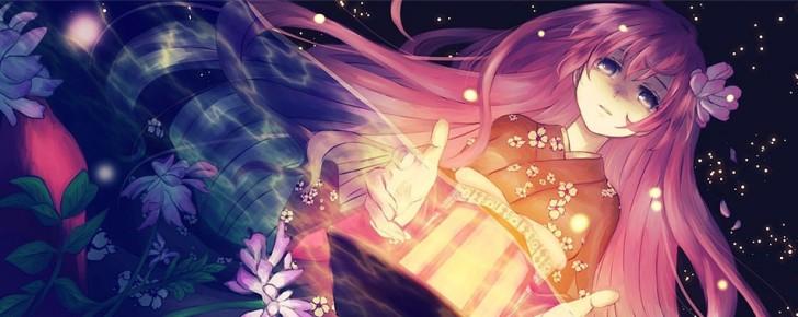【巡音ルカ】綺麗な和服姿の和風イラスト壁紙【ボカロ画像】