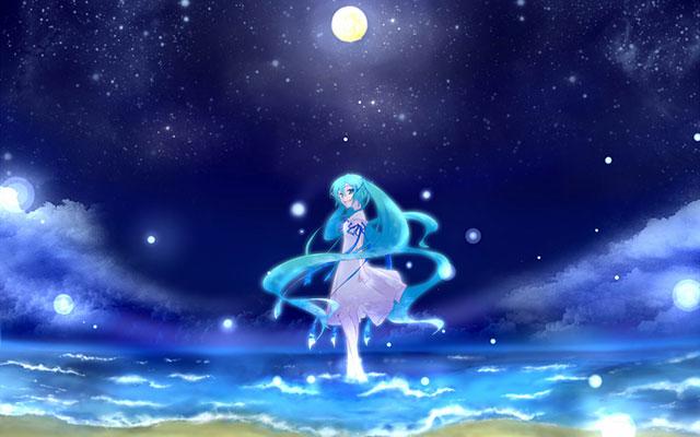 月夜の初音ミク