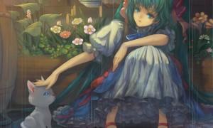 【初音ミク】ミクとネコの可愛いイラスト画像【ボカロ壁紙】