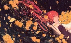 【初音ミク】バラの花とミクの美しいイラスト画像【ボカロ壁紙】