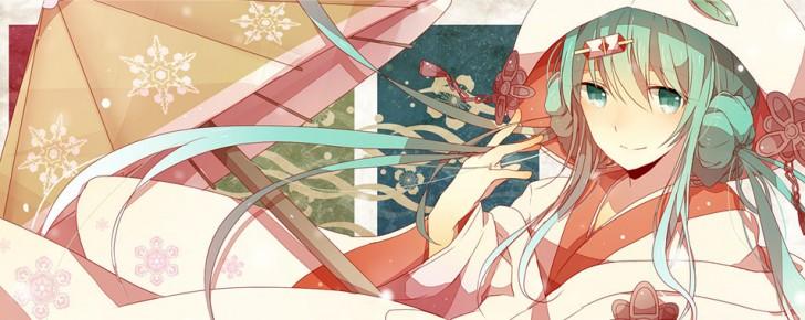 【初音ミク】雪ミク2013の可愛いイラスト画像【ボカロ壁紙】
