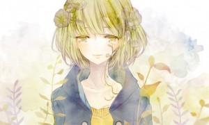 【GUMI】水彩画風の綺麗なイラスト壁紙【ボカロ画像】