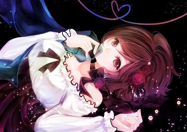 透明のベールとドレスを着たMEIKOの可愛いイラスト壁紙画像