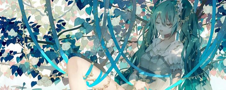 【初音ミク】植物とミクの美しいイラスト画像【ボカロ壁紙】