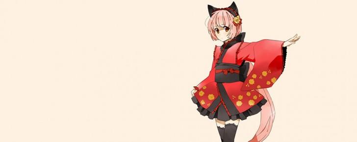 【猫村いろは】ピンク系の可愛いイラスト壁紙【ボカロ画像】