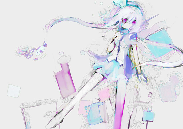 蒼姫ラピスを淡い水彩タッチで描いた綺麗なイラスト壁紙画像
