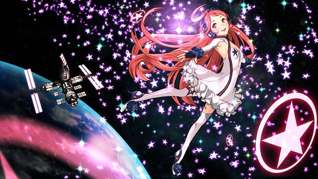 たくさんの星と宇宙のミキの綺麗なイラスト壁紙画像