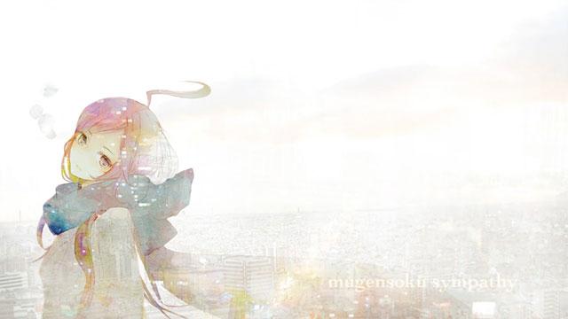 淡い色合いでMIKIを描いた繊細でおしゃれなイラスト壁紙画像