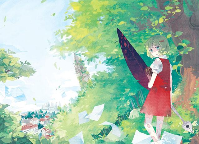 森の中のGUMIの綺麗で可愛いボカロイラスト壁紙画像