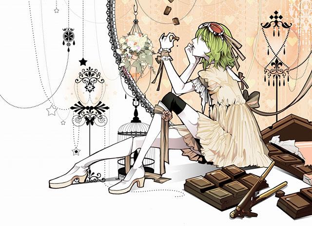 GUMIとチョコレートでデザインした綺麗なボカロイラスト壁紙画像