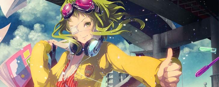 【GUMI】制服姿のグミの可愛いイラスト壁紙【ボカロ画像】