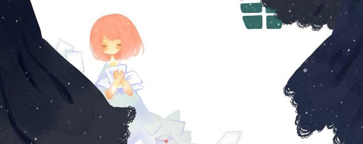 【巡音ルカ】ちびキャラ風の可愛いイラスト壁紙【ボカロ画像】
