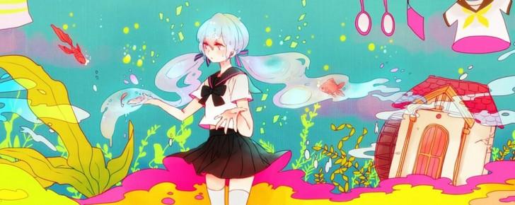 【初音ミク】カラフルな色使いの可愛いイラスト壁紙【ボカロ画像】