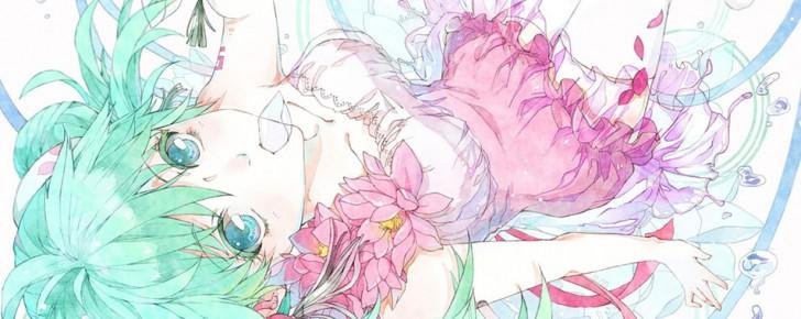 【初音ミク】水彩塗りタッチが綺麗なイラスト壁紙【ボカロ画像】