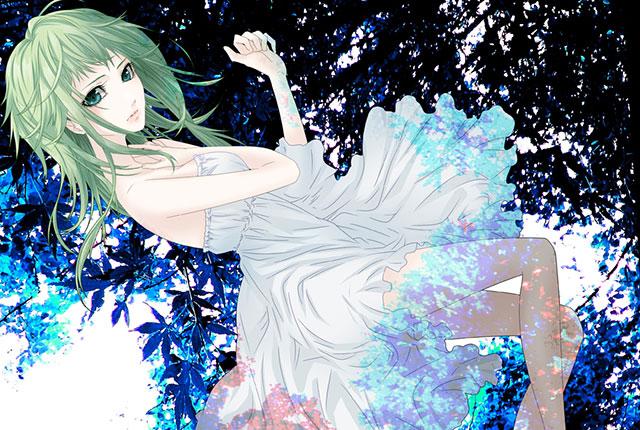 ドレス姿の大人っぽいGUMIのかっこいいイラスト壁紙画像