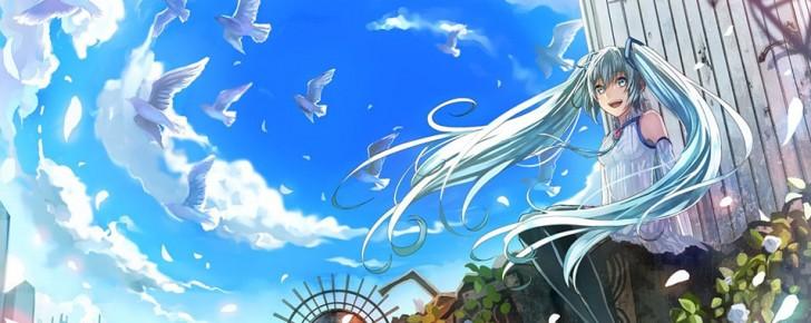 【初音ミク】鳥とミクの可愛いイラスト画像【ボカロ壁紙】