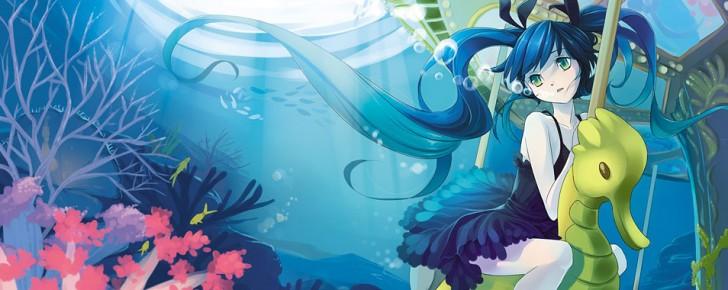 【初音ミク】海中のミクの美しいイラスト画像【ボカロ壁紙】