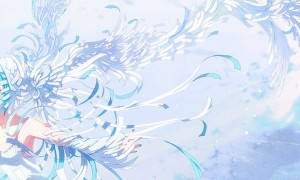 【初音ミク】翼の生えたミクの綺麗なイラスト画像【ボカロ壁紙】