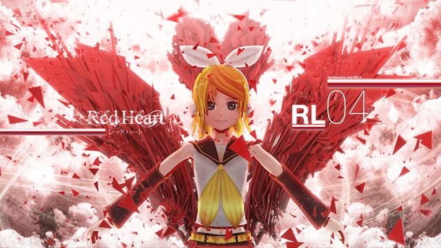 Red Heart のリンの高解像度なボカロイラスト壁紙画像