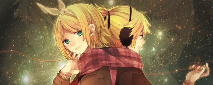 【鏡音リン】星空や星柄の綺麗なイラスト壁紙画像【鏡音レン】